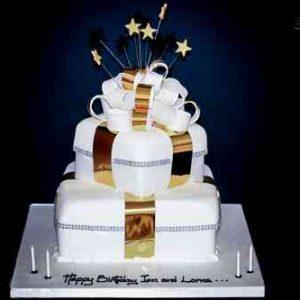 2 Tier Square Parcel Cake