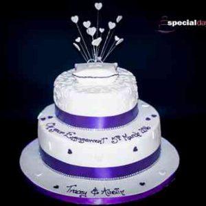 Engagement or Wedding Ring Cake